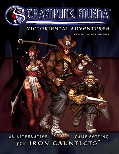 Steampunk Musha: Victoriental Adventures, created by Rick Hershey